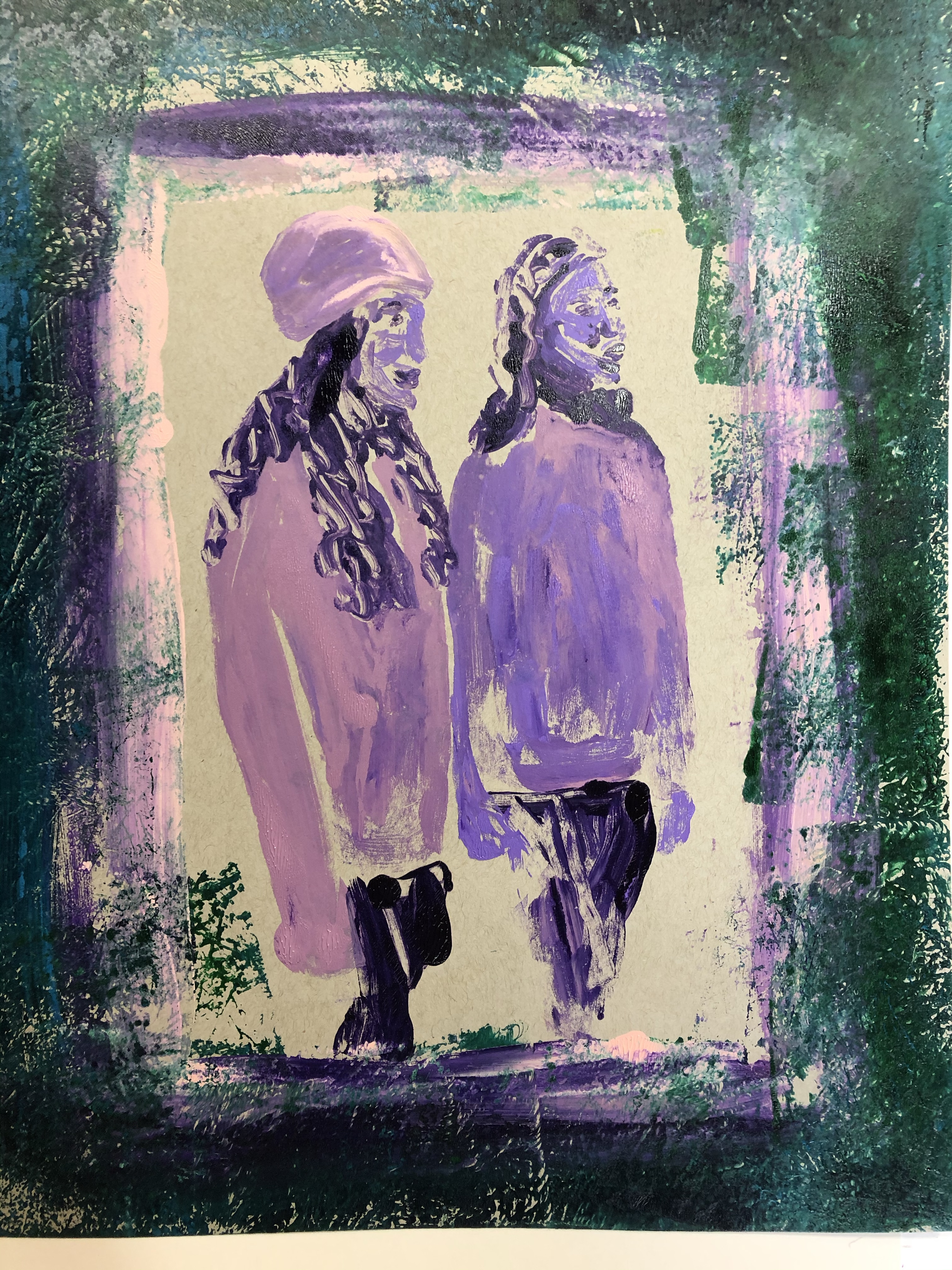 Artcare K/ünstlermappe 15482240/64/x 5/x 49/cm A2/Synthetik Material Premier Portfolio mit 5/Gratis /Ärmel, Fuchsia pink